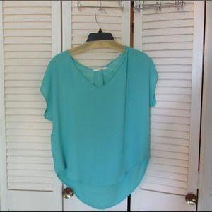 Lush teal blouse